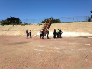 Working Group Visit With PUC And Rec And Park After Roof Was Removed